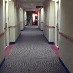 hall way with pop machine