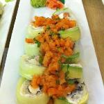 Another favorite: Spicy Salmon Roll.