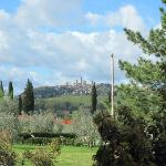 San Gimignano in the distance.