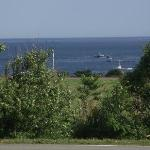 View from balcony- Lobster boats
