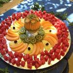 un pezzo del buffet di frutta