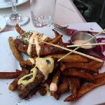 kebabs and fries