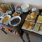 The exceptional breakfast spread