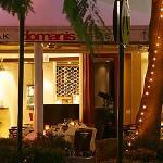 Domani's ambient alfresco dining area