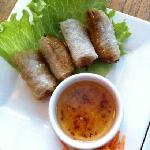 Pork Spring Rolls. Very soggy and oily. Fillings were disgusting.