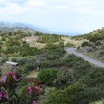 View down to more of ancient Assos