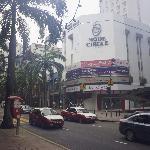 opposite the hotel