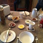 Continental breakfast prepared by Robin