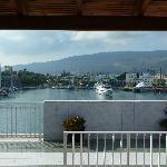 Vue de la terrasse donnat sur le port de Kos