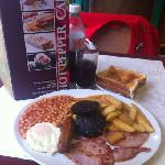 number four breakfast £4.95