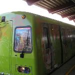 Colorful train from Beitou to Xin Beitou
