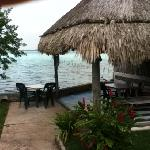 palapa by the water with hammocks - nice