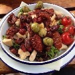 chicken and chorizo warm salad