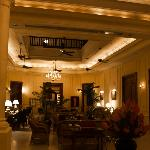 The entrance hall of the hotel...