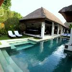 View of Suoni pool and living area from main bedroom