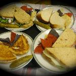 Four great sandwiches! Mmmm.....!