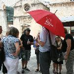 Our guide will always be holding a red umbrella!