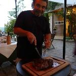 Bruno carving our Bistecca
