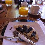 Mmmm.. chocolate banana pancake.