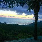 After sunset, overlooking Play Dominical, Dominicalito, and others.