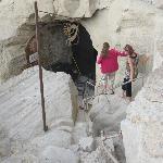 Last part of descent to cave entrance