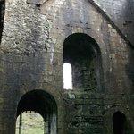 Inside Peveril Castle.