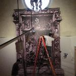 Behind the scenes at the MMA: Installing a replication of Rodin's Gates of Hell.