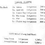 Taxipreisliste