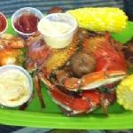 crab cake, shrimp, blue crabs=delicious