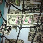 dollar bill decor with our addition