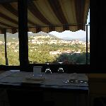"""The view of Marsico from """"our"""" table which we enjoyed for 3 straight nights."""