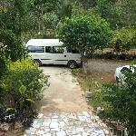 Fabian's van outside his house