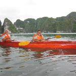 canoeing at ha long bay