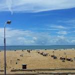Besant nagar beach on a sunny day