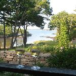 Tranquil cove viewed from patio