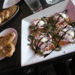 Lobster Ravioli and Garlic Bread