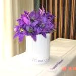 El Palacio Hotel 9th Fl Banquet Rm - Purple Lillies Floral Arrangement - Great Ambiance!