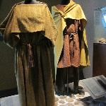 Viking clothing display in the museum