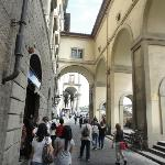 Accross the street and into the Uffizi