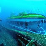 Submarine 30m under the water