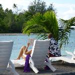 view from the pool area, using the loungers