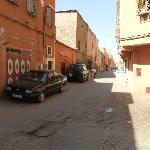 Riad street (the oposite side to entrance. street to city centre)