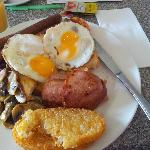 Biggest breakky at Cafe Pokolbin Leisure Inn