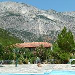 Pool view looking back at Mt. Kerkis