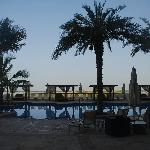 The view of the pool, with the coastal region behind.