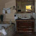 View into bathroom (shower to the right)