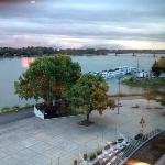 Nice view of the River Rhine from the room.