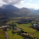 Aerial view of Torlundy and Ben Nevis
