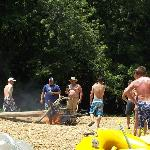 On the float trip