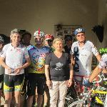 Gruppo ciclistico Cremonese con la meravigliosa Sigra Clarissa